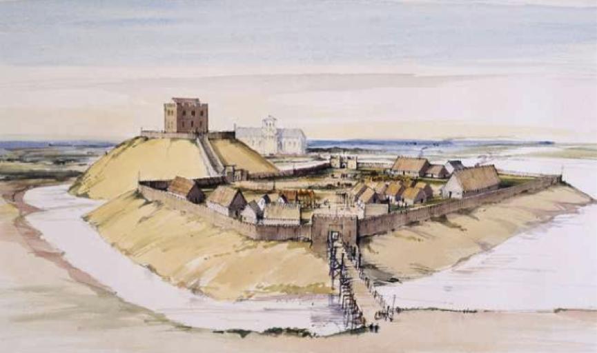 York Castle 11. Jahrhundert