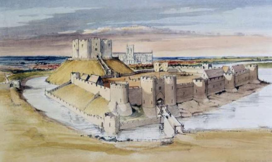 York Castle 14. Jahrhundert